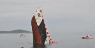 Eski Sahil Güvenlik Gemisi Saros Körfezi'nde Batırıldı