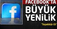 Facebookta büyük yenilik!