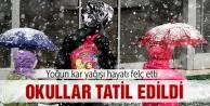 Konyada okullara kar tatili!