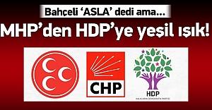 MHP#039;den HDP#039;ye yeşil ışık!