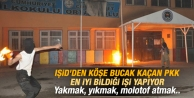 PKK Diyarbakır'da okul yaktı ortalık karıştı