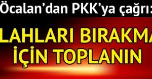 PKKya çağrı: Silah bırakmak için toplanın