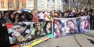Siverek Ve Viranşehir'de Bdp'lilerden Protesto Yürüyüşü