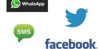 Sosyal medyadan SMSlere büyük darbe