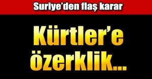 Suriye yönetimi Kürtlere özerklik vermeye hazır