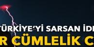 Türkiyeyi sarsan iddiaya bir cümlelik cevap