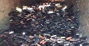 Evinde 10 bin adet çalıntı silah ele geçirildi
