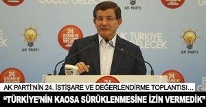 'Türkiye'nin kaosa sürüklenmesine izin vermedik'