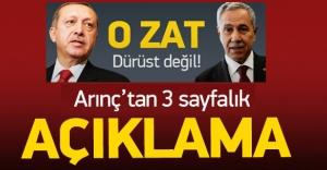 Arınç, Erdoğan'a cevap verdi; Lütfen ...