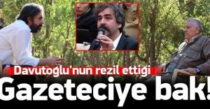 Davutoğlu'nun rezil ettiği gazeteciye bak sen!