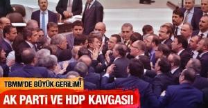 AK Parti ve HDP'li vekiller TBMM'de birbirine girdi!