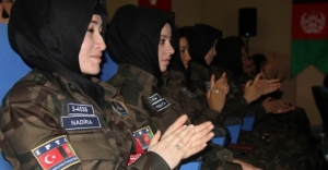 Afgan kadın polislere Sivas'ta özel harekat eğitimi