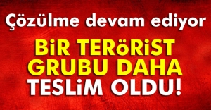 Çözülme devam ediyor: 5 terörist daha teslim oldu