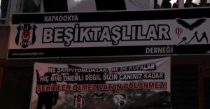 En anlamlı şampiyonluk pankartı Nevşehir'den