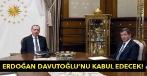 Erdoğan, Davutoğlu'nu kabul edecek