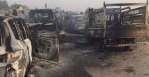 IŞİD'e ağır darbe! Konvoyun tamamı yok edildi