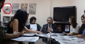 Öcalan'ın fotoğrafının önünde toplantı yaptı