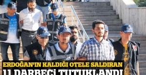 Marmaris'te Erdoğan'ın oteline saldıran 11 asker tutuklandı