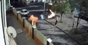 Gaziantep'te okula böyle molotof attılar