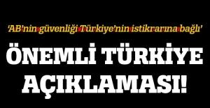 'AB'nin güvenliği Türkiye'nin istikrarına bağlı'