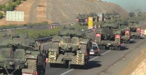 Sınıra giden tanklar Silopi'ye ulaştı