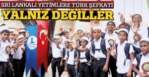 Sri Lankalı yetimlere Türk şefkati