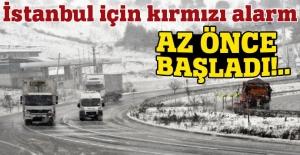 AKOM'dan İstanbul için kırmızı alarm: Az önce başladı!