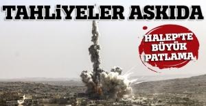 Doğu Halep'te patlama oldu, tahliyeler durdu (Halep'te son durum)