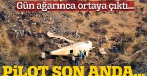 Gün ağarınca gerçek ortaya çıktı! Düşen uçaktan yeni fotoğraflar