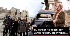 Halep'e Gelip Yıkıntılar Arasında Poz Verdiler