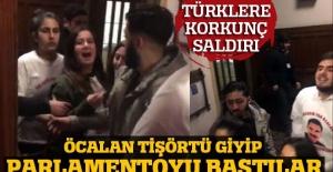 Son dakika! Öcalan tişörtlerini giyip parlamentoyu bastılar