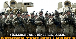 ABD'den Rusya sınırına yüzlerce tankla çıkarma