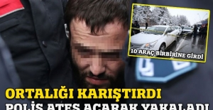 Polis 'dur' ihtarına uymayan otomobili ateş ederek durdurdu