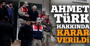 Ahmet Türk hakkında karar verildi