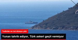 Kardak'ta Yunan Tahrik Ediyor, Türk Askeri Geçit Vermiyor