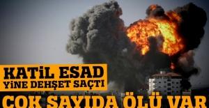 Katil Esad güçleri sivilleri vurdu: 20 ölü,100 yaralı