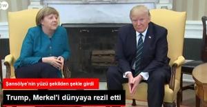 ABD Başkanı Trump Almanya Başbakanı Merkel'i Dünyaya Rezil Etti