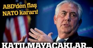 ABD Dışişleri Bakanı Tillerson NATO toplantısına katılmayacak