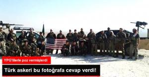ABD'li Askerlerin YPG'lilerle Fotoğraflarına Türk Askerinden Fotoğraflı Cevap