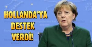 Almanya Başbakanı Merkel'den Hollanda'ya destek açıklaması
