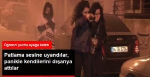 Beşiktaş'ta Kız Öğrenci Yurdunun Önündeki Yangın Paniğe Neden Oldu