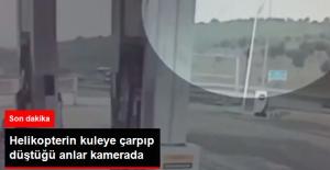 Helikopterin Kuleye Çarpıp Düştüğü Anlar Kamerada