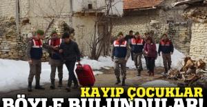 Kayıp çocuklar köyde saklanırken bulundu