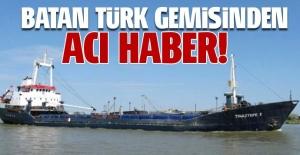 Libya açıklarında batan Türk gemisinde 5 kişi kayıp