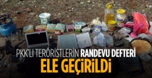 Mardin'de PKK'nın randevu defteri ele geçirildi