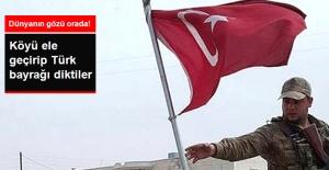 ÖSO Battuşiye Köyüne Türk Bayrağını Dikti