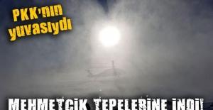 PKK'nın yuvalandığı Tendürek'e Mehmetçik havadan indi
