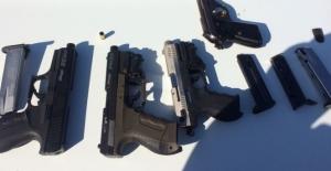 Tekirdağ'daki asayiş uygulamasında 4 ruhsatsız silah yakalandı