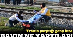 Trenin çarptğı genç kız öldü