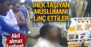 Hindistan'da inek taşıyan Müslüman adam öldürüldü